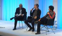 Larry Page si Sergey Brin, in discutie cu Vinod Khosla
