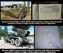 Armament rusesc cu documente aferente livrate rebelilor separatisti din Ucraina, potrivit MAE ucrainean