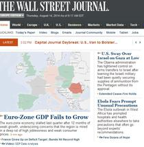 Romania, marcata cu rosu pe Wall Street Journal