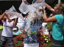 Simona Halep la ALS Ice Bucket