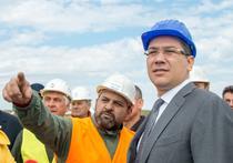 Premierul Victor Ponta in vizita pe un santier de autostrada