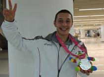 Mihaita Alexandru Novac, argint la aruncarea sulitei