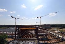 Stadiul la care era constructia ELI-NP in iunie 2014