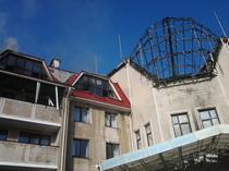 Baza Sahtior Donetsk, distrusa de obuze
