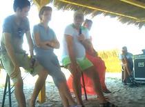 Adrian Sarbu la seminarul de pe plaja
