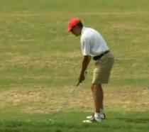 Barack Obama pe terenul de golf