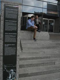 Intrarea in Parlamentul European- Cladirea Altiero Spinelli