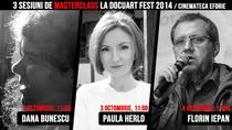 Masterclass-uri cu Dana Bunescu, Paula Herlo, Florin Iepan