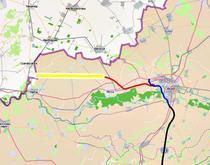 Lotul 2 de pe Arad - Nadlac (cu rosu pe harta)
