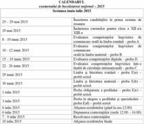 Calendarul examenului de bacalaureat 2015