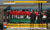 Suporterii unguri, in Gara Baneasa