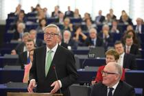 Jean Claude Juncker, in plen la Strasbourg
