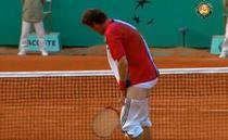 Marat Safin, moment ciudat la Roland Garros-ul din 2004