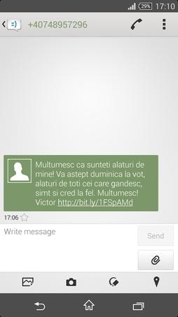 Mesaj de la Victor Viorel