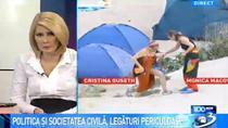 Monica Macovei si Cristina Guseth, fotografii difuzate de Antena 3