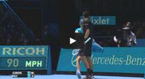 Novak Djokovic, lovitura impresionanta