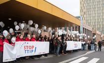 Manifestatie anti-TTIP la Luxemburg