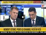 Dezbaterea Ponta - Iohannis e preluata LIVE si de RTV