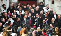 Liderii PSD la mitingul de sustinere a baronului corupt Constantin Nicolescu