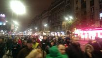 Protestatarii bucuresteni in drum spre Piata Victoriei