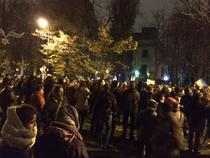 Manifestanti la sediul PSD