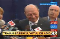 Antena 3 - Basescu, Votul de adio