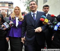 Victor Ponta si Daciana Sarbu la alegerile prezidentiale 2014 primul tur