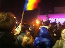 Protest in Piata Universitatii