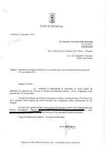 Scrisoarea autoritatilor din Verbania