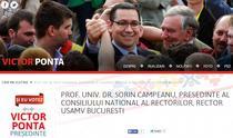 Sorin Campeanu l-a sustinut public pe Victor Ponta la presedintie