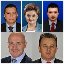 Sorin Grindeanu, Gratiela Gavrilescu, Ionut Vulpescu (sus), Adrian Anghel si Liviu Pop