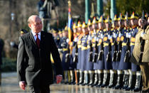 Traian Basescu la plecarea de la Cotroceni