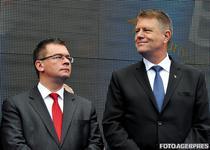Klaus Iohannis si MR Ungureanu la un miting electoral