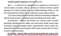 Modificarea regulamentului CSA Steaua