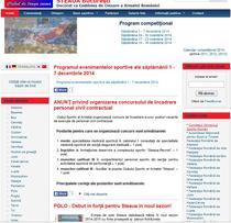 Site-ul CSA Steaua - fotbalul lipseste dintre sectiile enumerate