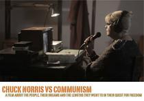 Irina Margareta Nistor pe afisul filmului Chuck Norris vs Communism