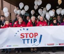 Manifestatie STOP TTIP la Luxemburg