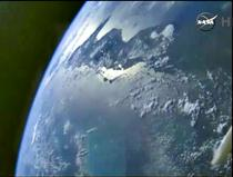 Pamantul vazut din capsula spatiala Orion