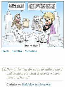 Desen cu profetul Mahomed in The Weekend Australian