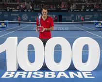 Roger Federer, campion la Brisbane