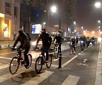 Biciclisti pe Calea Victoriei