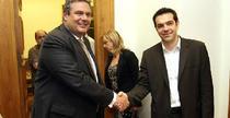 Kammenos si Tsipras, liderii partidelor de guvernamant