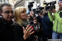 Elena Udrea adusa cu mandat la DNA, pentru a fi audiata de procurori