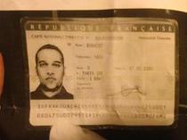 Cartea de identitate a suspectului Said Kouachi