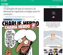 Caricatura Charlie Hebdo in El Pais