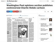 Caricatura Charlie Hebdo in Washington Post