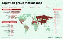 Harta statelor care au cazut victima grupului Equation