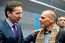 Jeroen Dijsselbloem si Yanis Varoufakis