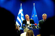 Yanis Varoufakis, ministrul grec de Finante, la Bruxelles