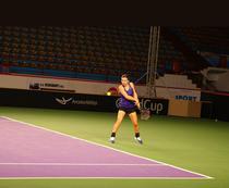Simona Halep, la Galati pentru meciul de Fed Cup